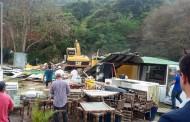 Floram inicia demolições de imóveis no Canto Sul dos Ingleses