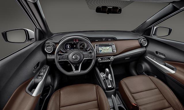 A cabine apresenta uma simplicidade elegante, graças ao painel de instrumentos limpo e despojado (Foto: Nissan/Divulgação)