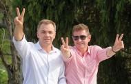 Prefeito eleito comemora eleição no norte da Ilha