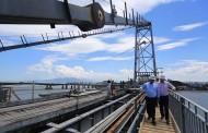 Governador leva imprensa para visitar obras da Hercílio Luz