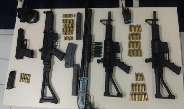 Equipe da DRACO apreende um arsenal de armas no Papaquara