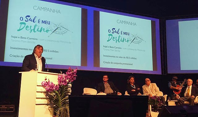 Pavan cobra mais investimentos no Turismo do Sul do país