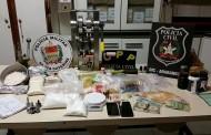 Polícias Civil e Militar encontram laboratório clandestino de ecstasy no Sul do Estado