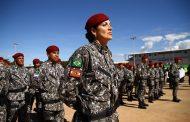 Polícia Militar feminina de SC comanda batalhão da Força Nacional